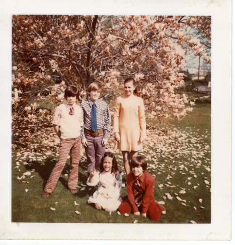 Cooke Family in springtime in NY
