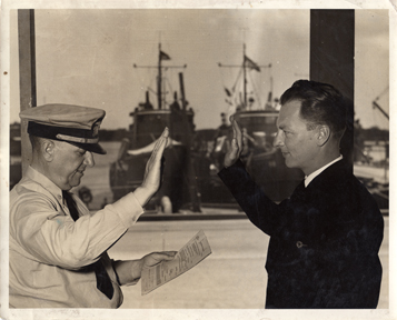 JB Swears In John, 14 Dec 1941